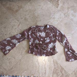Flynne Skye floral bell sleeve top